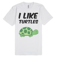 Turtle-Unisex White T-Shirt