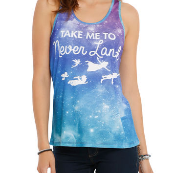 Disney Peter Pan Neverland Galaxy Sublimation Girls Tank Top