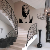 Marilyn Monroe silhouette Version 4 vinyl wall art decal