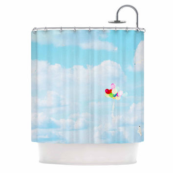 "Sylvia Coomes ""Balloons in the Sky"" Photography Kids Shower Curtain"