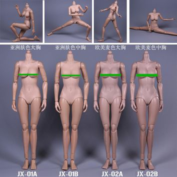 """JX Toys 1/6 Scale Female figure Body Similar to For Hot Toys Free Shipping for 12"""" Action Figure doll Toys sexy Female model"""