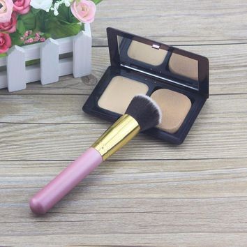 Professional Blusher Foundation Powder Brand Makeup Brush, Women Single Smooth Synthetic Kabuki Brush