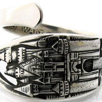 Disneyland Spoon Ring, Sizes 5-8 Solid Sterling Silver