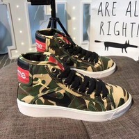 Best Online Sale Supreme x Nike Retro Air Jordan Sky High OG Mid Duck Camo Shoes Sport Basketball Shoes