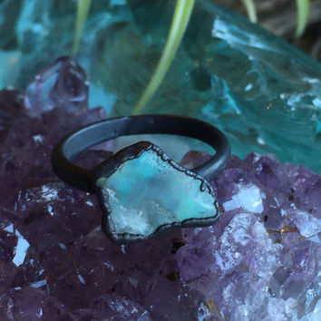 Raw Opal Ring Size 7
