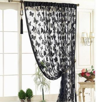 1*2meter butterfly Tassel room door window curtain Divider for Birthday Wedding Party Decoration gift craft DIY background favor