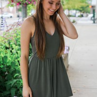Resort Bound Romper - Olive