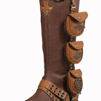 Ellie Shoes E-181-Silas 1 Inch Women Steam Punk Boot