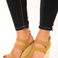 Along For The Ride Wedges: Tan