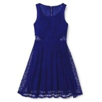 Xhilaration® Junior's Lace Fit & Flare Dress - Assorted Colors
