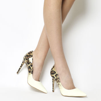 Office Hombre Ombre Point Courts Leopard Ombre White - High Heels