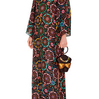Renata Silk Caftan with Beaded Back | Moda Operandi