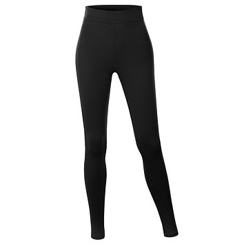 Cotton Jersey High Waist Fold Over Ankle Length Yoga Legging Pants