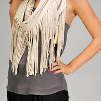 Esley Fringe Eternity Scarf
