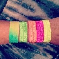 Neon Hair Ties from La Fede Boutique