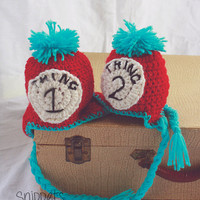 Thing 1 & Thing 2 - Newborn Twin Photo Props - newborn photography, photo props, twin photography, dr. seuss