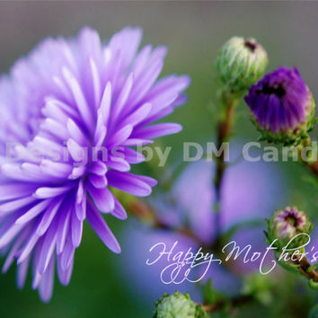 Happy Mother's Day and lavender flowers, lavenders and greens, inspirational wall art ready to frame for home or office, printable downloads