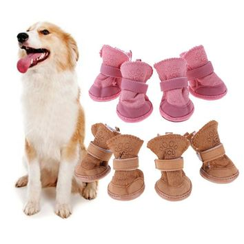 Pet Puppy Thick Snow Boots - Dog Winter Warm Shoes