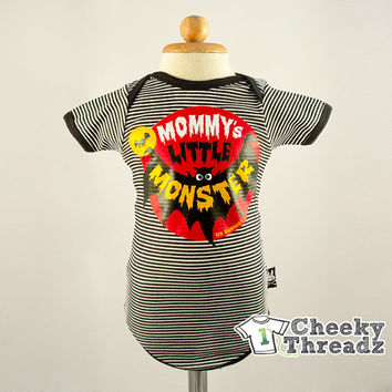 Baby toddler Romper Mommy's little monster Onesuit Baby Romper Cool Rock Babies clothes