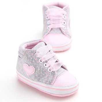 0-18Months Newborn Baby Shoes Kids Boy Girl Soft Sole Sneaker Toddler Shoes US
