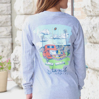 Tailgates + Touchdowns Long Sleeve Tee {H. Grey}
