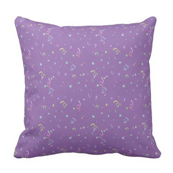 Confetti and Streamers Throw Pillow