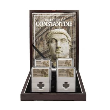 House of Constantine: Four NGC-Certified Roman Bronze Coins