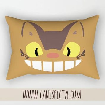 Catbus My Neighbor Totoro Kawaii Pillow Rectangle Cushion Decorative Studio Ghibli Couch Art Decor Long Rectangular Fandom Fan Chibi Movie