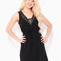 Studded Drawstring Dress