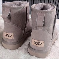 "shosouvenir""UGG"" Women Fashion Wool Snow Boots"