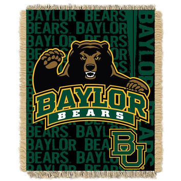Baylor Bears NCAA Triple Woven Jacquard Throw (Double Play Series) (48x60)