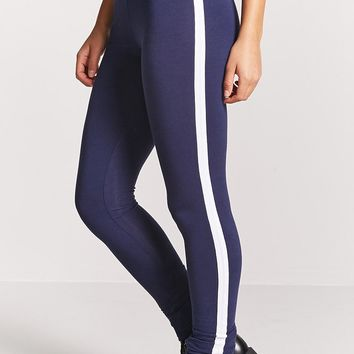 Stretch-Knit Stripe Leggings