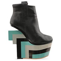 Finsk Project 8 in Black Turquoise Grey at Solestruck.com