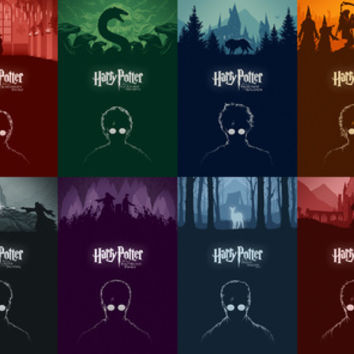 Harry Potter - The Complete Poster Series Art Print by Cameron K. Lewis