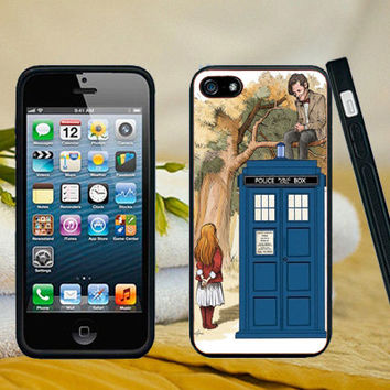 Alice Wonderland and Doctor Who case for iPhone 6 6 Plus 5 5s 5c 4 4s iPod Touch Nano Samsung Galaxy s5 s4 s3 s2 Note HTC Nokia BlackBerry