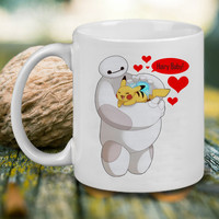 Big Hero And Pikachu Pokemon Mug, Tea Mug, Coffee Mug