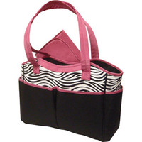 Walmart: Baby Essentials Diaper Bag, Zebra Print with Pink Trim