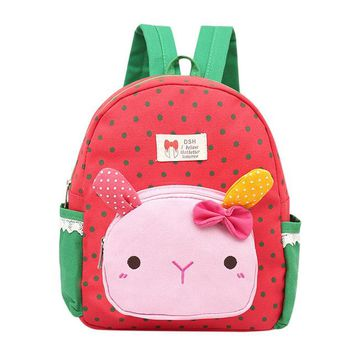 Toddler Backpack class Children Rabbit Animal Plush Backpack Cartoon School Shoulder Bag Kid Snack Plush Dolls Plush Soft Baby Toddler School Bag AT_50_3