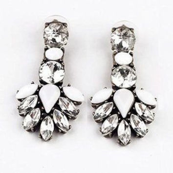 Shorouk Style Chunky Chandelier Earrings