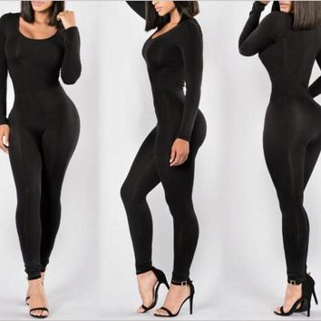 Black Tight sexy jumpsuits