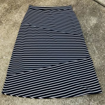 JULES & LEOPOLD Women's Plus Size XL Nancy Striped Stretch Maxi Skirt