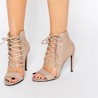Senso Opal Caramel Leather Eyelet Detail Heeled Sandals
