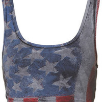 American Flag Bralet - Hot Shop  - Collections  - Topshop
