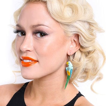 Vintage Parrot Earrings