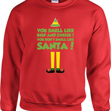 Funny Christmas Sweater Buddy The Elf Sweater Christmas Presents Holiday Season Ugly Xmas Sweater Elf Sweater Unisex Hoodie - SA405