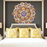 Full Color Wall Decal Mandala Model Map Ornament Star Buddha Yoga flower mcol35