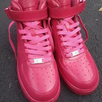 Nike Air Force 1 Custom Magenta/ Frescho Sneaker Customization Low Price Quality Sneak