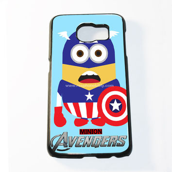 Avenger Minion Captain America Samsung Galaxy S6 and S6 Edge Case