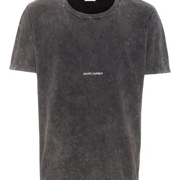 Distressed Black T-Shirt by Saint Laurent