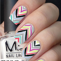 Swirly Cheveron Nail Decal